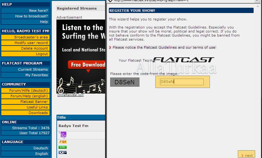Yedek Radyo Kurulum ve Radyo Silmek - Flatcast Yardım ...